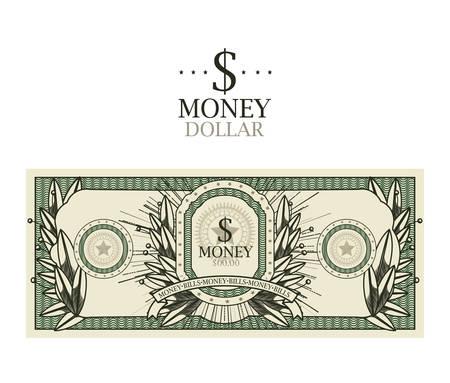 licence: dollar bill  isolated design, vector illustration.