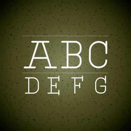 written: alphabet written on chalk board design, vector illustration eps10 graphic