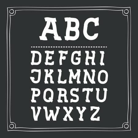 written: alphabet written on chalkboard design, vector illustration eps10 graphic