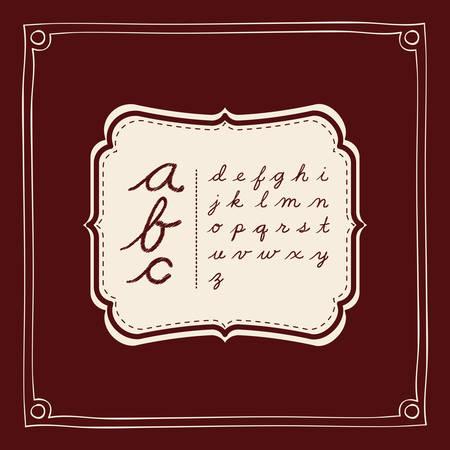 written: alphabet written on cover design, vector illustration eps10 graphic Illustration