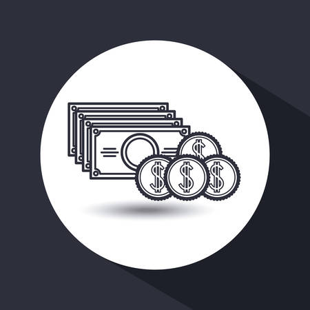 burning money: money concept flat design, vector illustration eps10 graphic Illustration