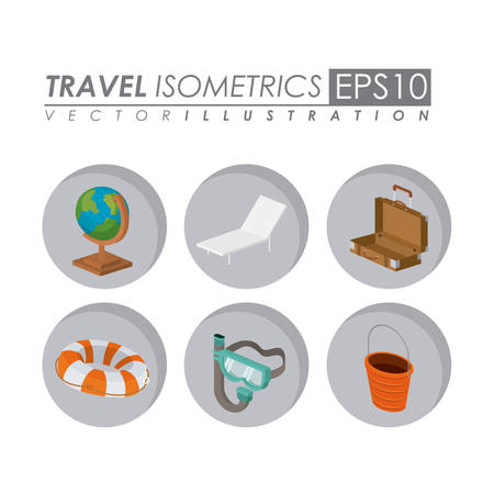 travel isometrics design, vector illustration eps10 graphic
