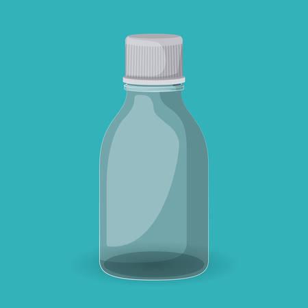 prescription bottles: plastic bottle design, vector illustration eps10 graphic