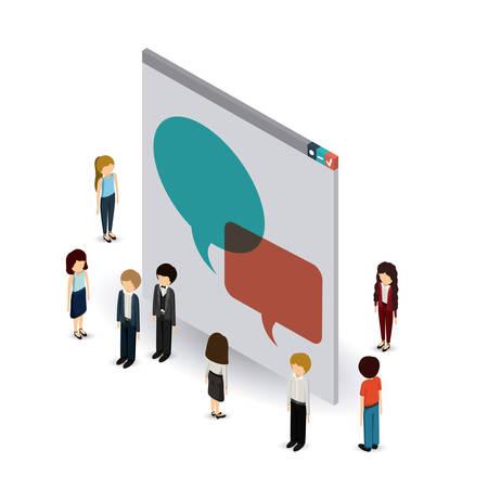businesspeople: businesspeople isometrics design, vector illustration eps10 graphic
