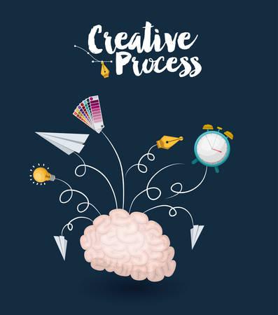 diseño del proceso creativo, ejemplo gráfico del vector eps10