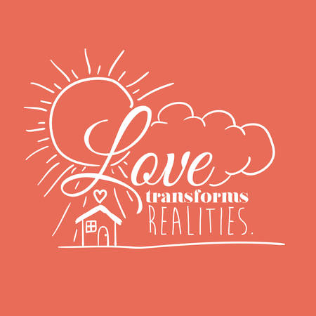 transforms: message in calligraphy design, vector illustration eps10 graphic Illustration
