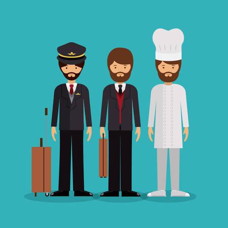 business suit: professional men design, vector illustration eps10 graphic