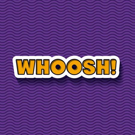 whoosh: pop art message design, vector illustration eps10 graphic