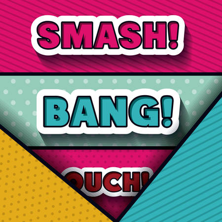ouch: pop art message design, vector illustration eps10 graphic