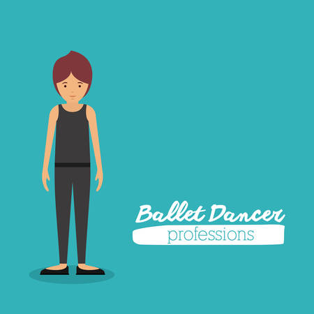 leotard: ballet dancer design, vector illustration eps10 graphic Illustration