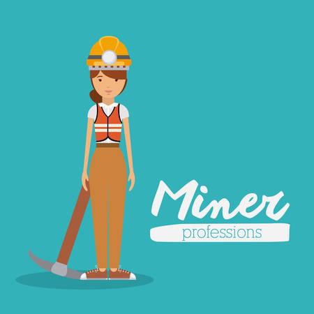 miner: miner profession  design, vector illustration eps10 graphic