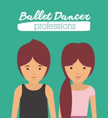 male ballet dancer: ballet dancer design, vector illustration eps10 graphic Illustration
