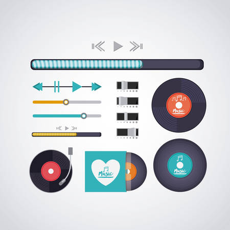 music player: music player design, vector illustration eps10 graphic Illustration