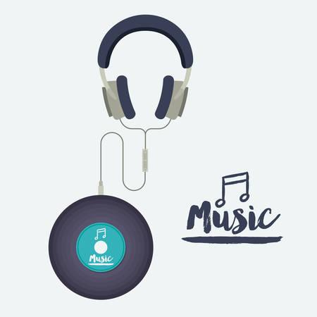 lp: music record design, vector illustration eps10 graphic