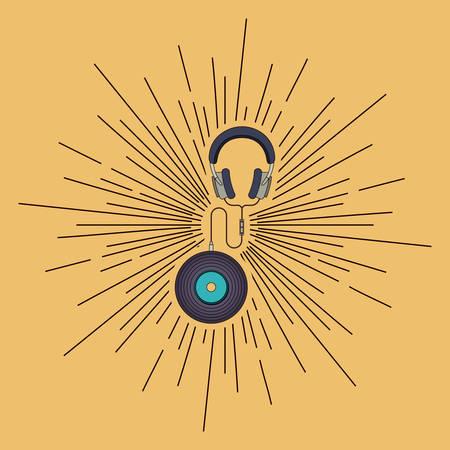 vinyl disk player: music player design, vector illustration eps10 graphic Illustration