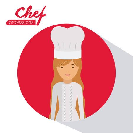 diseño de la profesión de chef, ilustración vectorial gráfico eps10