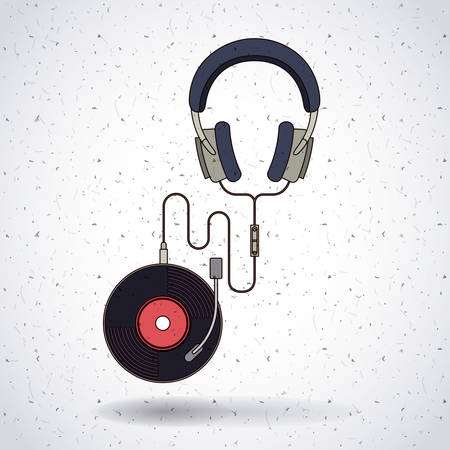 vinyl disk player: music record design, vector illustration eps10 graphic