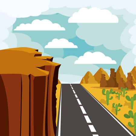 abyss: road landscape design, vector illustration eps10 graphic