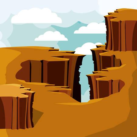 desert landscape design, vector illustration eps10 graphic