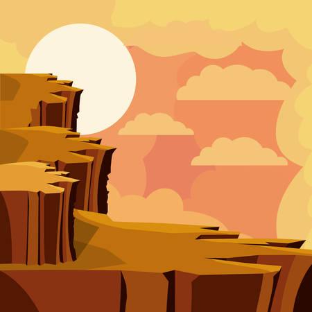 abyss: desert landscape design, vector illustration eps10 graphic