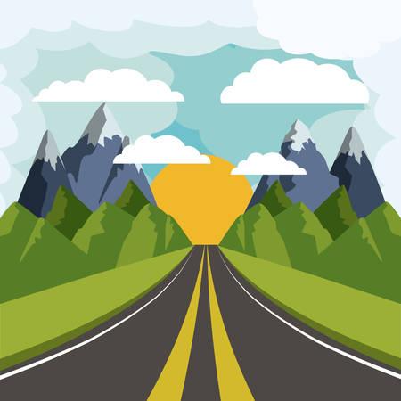 landscape road: road landscape design, vector illustration eps10 graphic