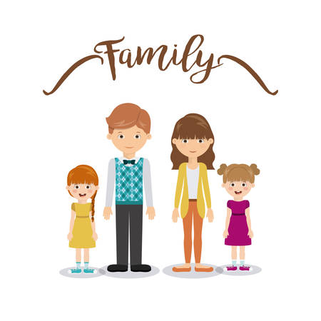 daugther: family members design, vector illustration eps10 graphic