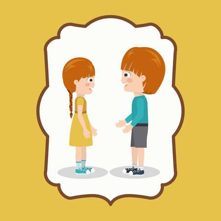the pair: pair of children design, vector illustration eps10 graphic