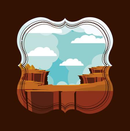 abyss: beautiful landscape frame design, vector illustration eps10 graphic