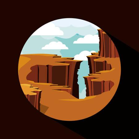 precipice: beautiful landscape frame design, vector illustration eps10 graphic