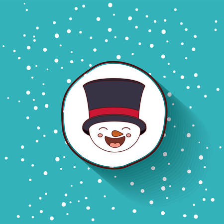 funny christmas: funny Christmas character isolated icon design, vector illustration  graphic