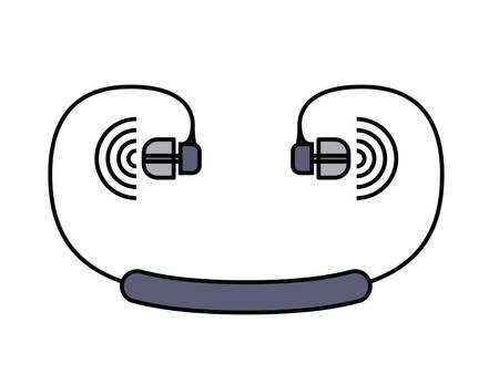earphones: earphones  isolated icon design, vector illustration  graphic Illustration