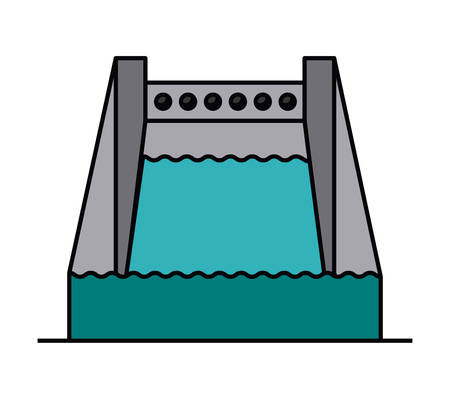 hydroelectricity: hydropower isolated icon design, vector illustration  graphic Illustration