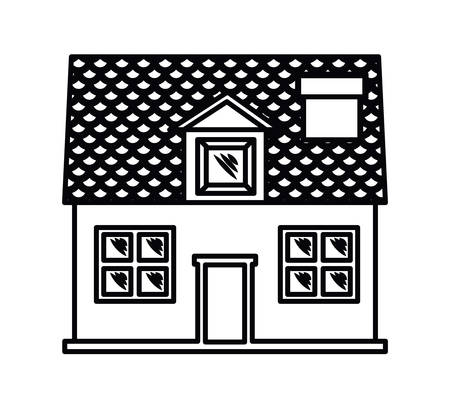 front house: house exterior front isolated icon design, vector illustration  graphic