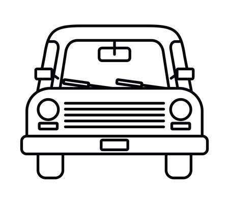Autozeichnung vorderes lokalisiertes Ikonendesign, Vektorillustrationsgraphik Vektorgrafik