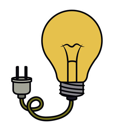 electric bulb: bulb with plug electric  isolated icon design, vector illustration  graphic