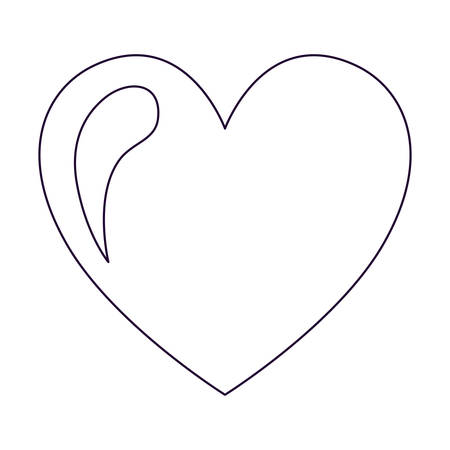 Heart Drawing heart drawing isolated icon design, vector illustration graphic