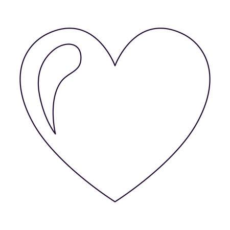 Herz Zeichnung isoliert Icon Design, Vektor-Illustration Grafik