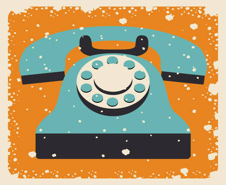 old telephone: old telephone poster isolated icon design, vector illustration  graphic Illustration