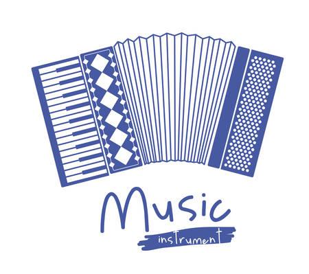 accordion: accordion instrument isolated icon design, vector illustration  graphic