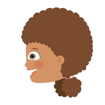 head profile: girl head profile isolated icon design, vector illustration  graphic