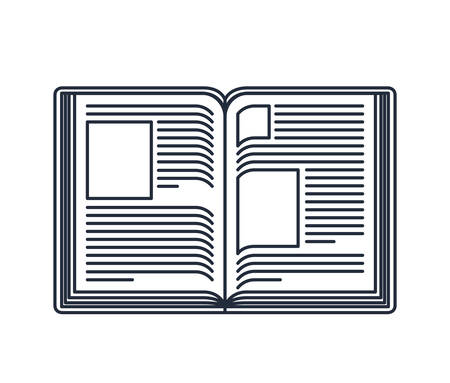 read magazine: text book open isolated icon design, vector illustration  graphic