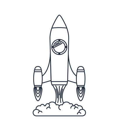 launcher: rocket launcher isolated icon design, vector illustration  graphic Illustration