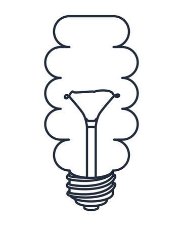 bombillo ahorrador: bombilla de ahorro dibujado aislado icono del dise�o, ejemplo gr�fico del vector