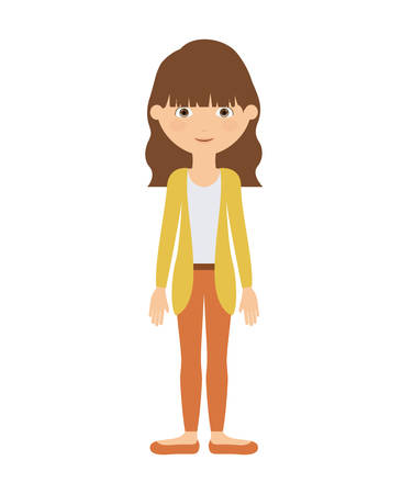 woman standing: woman standing  isolated icon design, vector illustration  graphic Illustration
