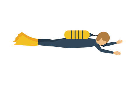 male athlete: male athlete practicing diving isolated icon design, vector illustration  graphic
