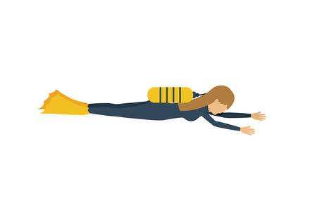 female athlete: female athlete practicing diving isolated icon design, vector illustration  graphic