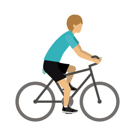 male athlete: male athlete practicing biking isolated icon design, vector illustration  graphic