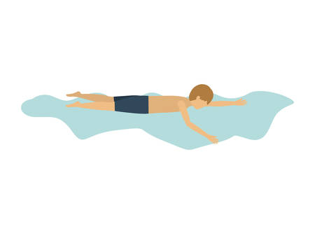 male athlete: male athlete practicing swimming isolated icon design, vector illustration  graphic Illustration
