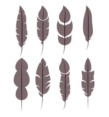 ontwerp van het veerpatroon het vastgestelde geïsoleerde pictogram, vector grafische illustratie