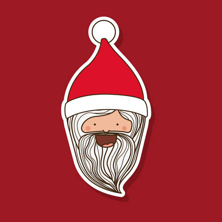 cookware: santa claus character isolated icon design, vector illustration  graphic